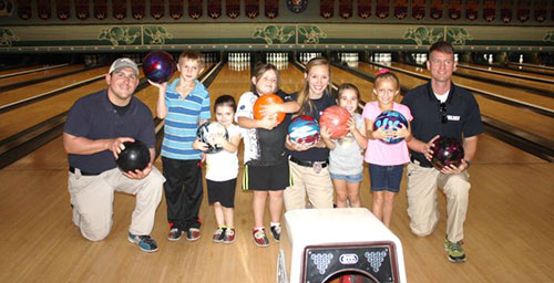 Hannibal Police Bowling with Kids