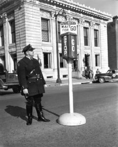 Hannibal Policeman Floyd Capps - Automated Stop and Go Signal - November 1949